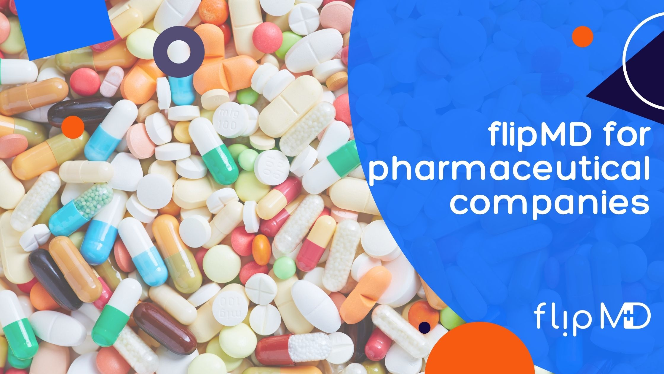 brightly colored pills developed by pharmaceutical companies